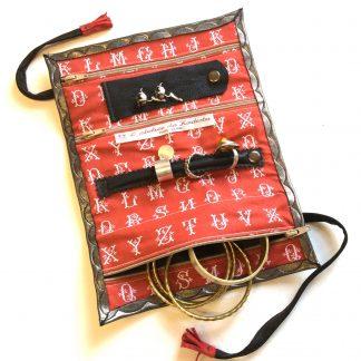 Trousse bijoux voyage - rouge alphabet