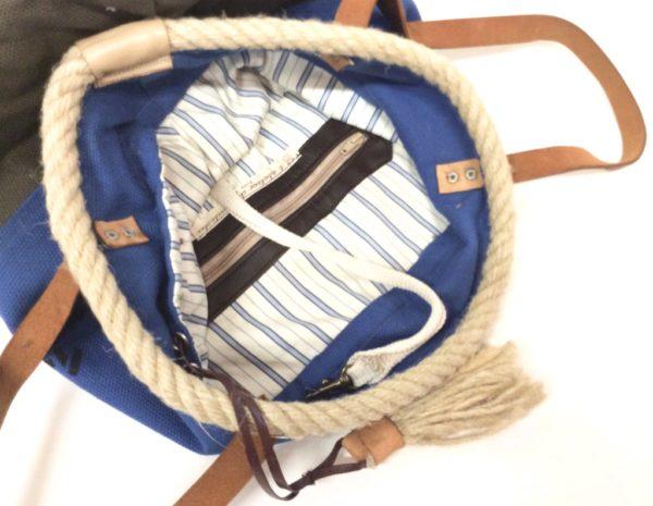 sac seau bleu-inscription N° 327
