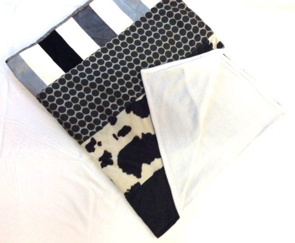 Kadistu-Plaid déco-douceur noir et blanc